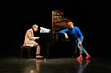 """Breakin' Convention presents Yaman Okur & Jean-Philippe Collard-Neven in """"1mm Au Dessus Du Sol"""". Performers are: Yaman Okur - dancer and choreographer and Jean-Philippe Collard-Neven - jazz pianist."""