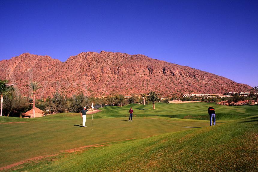 Famous Golf Course above Phoenix Arizona called The Boulders exclusive golfin