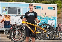 BNPS.co.uk (01202 558833)<br /> Pic: PhilYeomans/BNPS<br /> <br /> Dexter Gibson (20) of Front cycle hire - takings up 50 per cent this year.<br /> <br /> The summer heatwave is leading to a 'bumper year' for tourism at Britain's premier seaside resort.<br /> <br /> Over 100,000 people are visiting Bournemouth, Dorset, every weekend and hotels are full to capacity, with restaurants packed and huge queues at ice cream stalls.<br /> <br /> Seafront kiosks are selling out of parasols and sun cream, while one bike hire company has reported a 50 per cent increase in business.