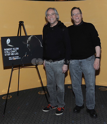 "NEW YORK, NY - MARCH 28:Actor and comedian Robert Klein and Director Marshall Fine attend the special screening of ""Robert Klein Still Can't Stop His Leg"" at the SVA Theater on March 28, 2017 in New York City. Photo by John Palmer/MediaPunch"