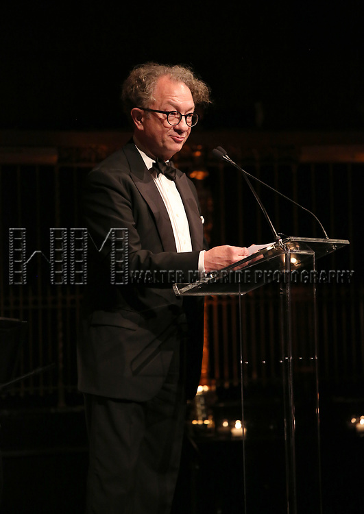William Ivey Long on stage at the  2017 Dramatists Guild Foundation Gala presentation at Gotham Hall on November 6, 2017 in New York City.