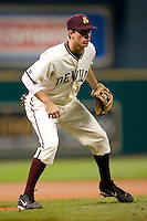 Arizona State's Matt Hall (20) on defense versus Texas A&M at the 2007 Houston College Classic at Minute Maid Park in Houston, TX, Friday, February 9, 2007.  Arizona State defeated Texas A&M 5-4.