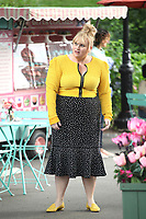 "NEW YORK, NY - JULY 11: Rebel Wilson on the set of ""Isn't It Romantic"" at Central Park on July 11, 2017 in New York City. Credit: DC/Media Punch"