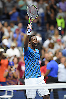 FLUSHING NY- SEPTEMBER 06: Gael Monfils Vs Lucas Pouille on Arthur Ashe Stadium at the USTA Billie Jean King National Tennis Center on September 6, 2016 in Flushing Queens. Credit: mpi04/MediaPunch