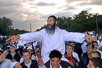 UKRAINE, Uman, 2008/09..The Hasidic tradition, founded in the 18th century in Belarus and Ukraine, places special emphasis on joyous communion with God. The singing and dancing give Uman a festive air. .© Cyril Horiszny / EST&OST