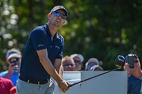 Justin Rose (GBR) watches his tee shot on 8 during Round 1 of the Zurich Classic of New Orl, TPC Louisiana, Avondale, Louisiana, USA. 4/26/2018.<br /> Picture: Golffile | Ken Murray<br /> <br /> <br /> All photo usage must carry mandatory copyright credit (&copy; Golffile | Ken Murray)