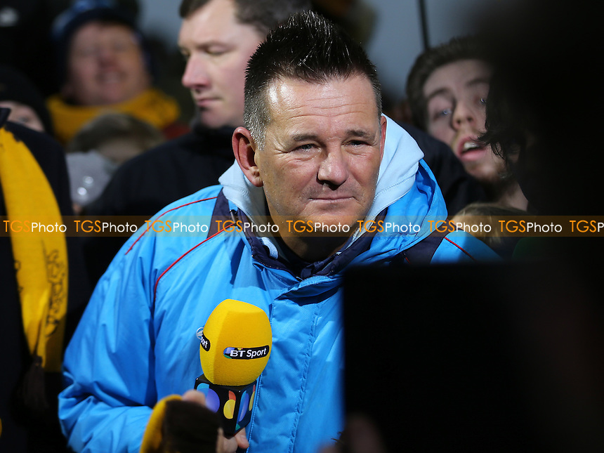 Sutton United Manager, Paul Doswell, will be looking forward to the Fifth Round FA Cup draw in 24 hours during Sutton United  vs Leeds United, Emirates FA Cup Football at the Borough Sports Ground on 29th January 2017