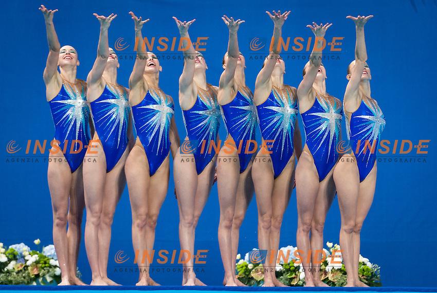 RUS - Russian Federation<br /> CHIGIREVA Vlada KOLESNICHENKO Svetlana<br /> PATSKEVICH Aleksandra PROKOFYEVA Elena<br /> SHISHKINA Alla SHUROCHKINA Maria<br /> TIMANINA Anzhelika TOPILINA Gelena<br /> Team Free Final<br /> Day8 31/07/2015<br /> XVI FINA World Championships Aquatics<br /> Synchro<br /> Kazan Tatarstan RUS July 24 - Aug. 9 2015 <br /> Photo Giorgio Scala/Deepbluemedia/Insidefoto