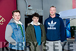 ITT students Dale Brosnan, Daniel O'Sullivan and Kyle Mulvihill  at Recfest on Abbey Street on Thursday