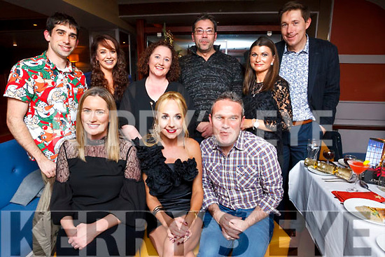 Cooper Medicare staff enjoying their Xmas party in Benners Hotel, Tralee on Friday night last. Seated L to R, Christine Jones, Michelle Cooper, Joseph harman. Back row, Ian Mara, Amanda Walsh, Caroline Samson, Manuel Losabo, Joanne O'Sullivan and Declan Walsh.