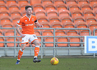 Blackpool's Jordan Thompson<br /> <br /> Photographer Kevin Barnes/CameraSport<br /> <br /> The EFL Sky Bet League One - Blackpool v Walsall - Saturday 9th February 2019 - Bloomfield Road - Blackpool<br /> <br /> World Copyright © 2019 CameraSport. All rights reserved. 43 Linden Ave. Countesthorpe. Leicester. England. LE8 5PG - Tel: +44 (0) 116 277 4147 - admin@camerasport.com - www.camerasport.com