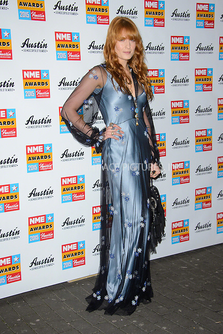 WWW.ACEPIXS.COM<br /> <br /> February 18 2015, London<br /> <br /> Florence Welch attends the NME Awards 2015 at the Brixton Academy on February 18 2015 in London. <br /> <br /> By Line: Famous/ACE Pictures<br /> <br /> <br /> ACE Pictures, Inc.<br /> tel: 646 769 0430<br /> Email: info@acepixs.com<br /> www.acepixs.com
