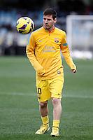 FC Barcelona's Leo Messi during La Liga match.January 19,2013. (ALTERPHOTOS/Acero) /NortePhoto
