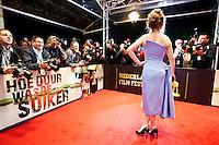 Utrecht, 25 september 2013<br /> Nederlands Film Festival 2013<br /> Openingsavond, actrice Carice van Houten poseert in een jurk van Dior op de rode loper<br /> Foto Felix Kalkman