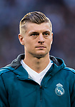Toni Kroos of Real Madrid looks on prior to the UEFA Champions League Semi-final 2nd leg match between Real Madrid and Bayern Munich at the Estadio Santiago Bernabeu on May 01 2018 in Madrid, Spain. Photo by Diego Souto / Power Sport Images