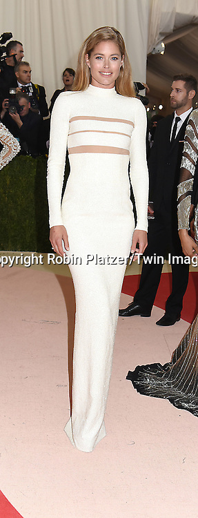 Doutzen Kroes attends the Metropolitan Museum of Art Costume Institute Benefit Gala on May 2, 2016 in New York, New York, USA. The show is Manus x Machina: Fashion in an Age of Technology. <br /> <br /> photo by Robin Platzer/Twin Images<br />  <br /> phone number 212-935-0770