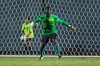 STANFORD, CA - August 19, 2014: Adrian Alabi during the Stanford vs CSU Bakersfield men's exhibition soccer match in Stanford, California.  Stanford won 1-0.