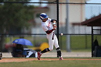 Daniel Maldonado (10) of Carlos Beltran Baseball Academy in Arecibo, Puerto Rico during the Under Armour Baseball Factory National Showcase, Florida, presented by Baseball Factory on June 12, 2018 the Joe DiMaggio Sports Complex in Clearwater, Florida.  (Nathan Ray/Four Seam Images)