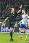 08.03.2019, Weser Stadion, Bremen, GER, 1.FBL, Werder Bremen vs FC Schalke 04, <br /> <br /> DFL REGULATIONS PROHIBIT ANY USE OF PHOTOGRAPHS AS IMAGE SEQUENCES AND/OR QUASI-VIDEO.<br /> <br />  im Bild<br /> Martin Petersen (Schiedsrichter / Referee) <br /> <br /> <br /> Foto &copy; nordphoto / Kokenge