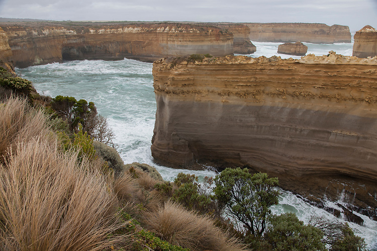 Rock stacks, gorges, arches, and blowholes are among the atributes of Port Campbell NP.