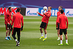 Atletico de Madrid's player Antoine Griezmann during the practice session the day before the EUFA Champions League match between Atletico de Madrid and FC. Barcelona at Vicente Calderon in Madrid. April 13, 2016. (ALTERPHOTOS/Borja B.Hojas)