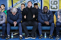 Karl Robinson (Manager) of Oxford United during the Sky Bet League 1 match between Oxford United and Fleetwood Town at the Kassam Stadium, Oxford, England on 10 April 2018. Photo by David Horn.
