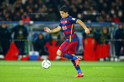 Luis Suarez (Barcelona),<br /> DECEMBER 20, 2015 - Football / Soccer :<br /> FIFA Club World Cup Japan 2015 Final match between River Plate 0-3 FC Barcelona at International Stadium Yokohama in Kanagawa, Japan. (Photo by AFLO)