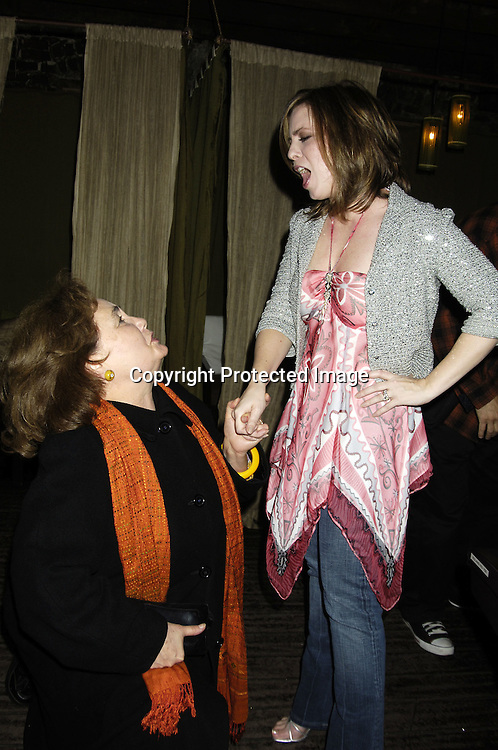 "Kathleen Widdoes and Martha Byrne ..at a record release party for Martha Byrne's new CD ""The Other Side""  on November 2, 2005 at Soho 323...Photo by Robin Platzer, Twin Images"
