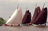 ZEILEN: EARNEWÂLD, 1991, SKS skûtsje Gerben van Manen Heerenveen, ©foto Martin de Jong