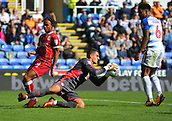 9th September 2017, Madejski Stadium, Reading, England; EFL Championship football, Reading versus Bristol City; Vito Mannone of Reading safely takes the shot at goal