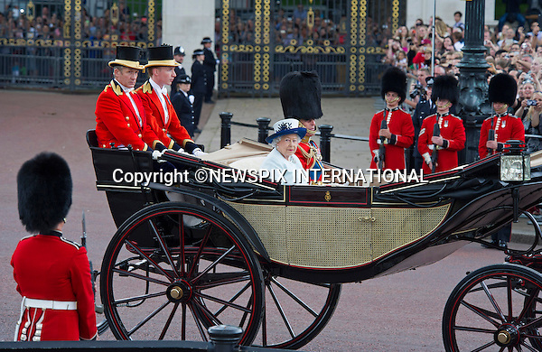 14.06.2014;LONDON: ROYALS ATTEND TROOPING OF THE COLOUR<br /> Members of the Royal Family including the Duke of Edinburgh, Princes Charles Andrew, Edward, William, Harry &amp; Michael as well as Camilla, Duchess of Cornwall, Kate, Princesses Anne, Eugenie, &amp; Michael, Sophie, Countess of Wessex, Lady Helen and Sarah Chatto attended the Trooping of the Colour which marke the Queen's Official Birthday.<br /> Mandatory Photo Credit: Francis Dias/NEWSPIX INTERNATIONAL<br /> <br /> **ALL FEES PAYABLE TO: &quot;NEWSPIX INTERNATIONAL&quot;**<br /> <br /> PHOTO CREDIT MANDATORY!!: NEWSPIX INTERNATIONAL(Failure to credit will incur a surcharge of 100% of reproduction fees)<br /> <br /> IMMEDIATE CONFIRMATION OF USAGE REQUIRED:<br /> Newspix International, 31 Chinnery Hill, Bishop's Stortford, ENGLAND CM23 3PS<br /> Tel:+441279 324672  ; Fax: +441279656877<br /> Mobile:  0777568 1153<br /> e-mail: info@newspixinternational.co.uk