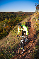 Riding On the Edge a mountain bike trail along the edge of Brockway Mountain in Copper Harbor Michigan Michigan's Upper Peninsula.