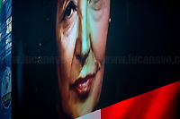 """Screening a video showing Oriana Fallaci (Was an Italian journalist, author, and political interviewer).<br /> <br /> Rome, 19/10/2019. Today, tens thousands of people (200,000 for the organisers, 50,000 for the police) gathered in Piazza San Giovanni to attend the national demonstration """"Orgoglio Italiano"""" (Italian Pride) of the far-right party Lega (League) of Matteo Salvini. The demonstration was supported by Silvio Berlusconi's party Forza Italia and Giorgia Meloni's party Fratelli d'Italia (Brothers of Italy, right-wing).  <br /> The aim of the rally was to protest against the Italian coalition Government (AKA Governo Conte II, Conte's Second Government, Governo Giallo-Rosso, 1.) lead by Professor Giuseppe Conte. The 66th Government of Italy is a coalition between Five Star Movement (M5S, 2.), Democratic Party (PD – Center Left, 3.), and Liberi e Uguali (LeU – Left, 4.), these last two parties replaced Lega / League as new members of a coalition based on Parliamentarian majority as stated in the Italian Constitution. The Governo Conte I (Conte's First Government, 5.) was 14-month-old when, between 8 and 9 of August 2019, collapsed after the Interior Minister Matteo Salvini withdrew his euroskeptic, anti-migrant, right-wing Lega / League (6.) from the populist coalition in a pindaric attempt (miserably failed) to trigger a snap election.<br /> <br /> Footnotes & Links:<br /> 1. http://bit.do/feK6N<br /> 2. http://bit.do/e7JLx<br /> 3. http://bit.do/e7JKy<br /> 4. http://bit.do/e7JMP<br /> 5. http://bit.do/e7JH7<br /> 6. http://bit.do/eE7Ey<br /> https://www.leganord.org<br /> http://bit.do/feK9X (Source, TheGuardian.com)<br /> Reportage: """"La Fabbrica Della Paura"""" (The Factory of Fear): http://bit.do/feLcy (Source Report, Rai.it - ITA)<br /> (Update) Reportage: """"La Fabbrica Social Della Paura"""" (The Social Network Factory of Fear): http://bit.do/fe8Pn (Source Report, Rai.it - ITA)"""
