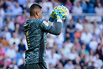 Alphonse Areola of Real Madrid during La Liga match between Real Madrid and Granada CF at Santiago Bernabeu Stadium in Madrid, Spain. October 05, 2019. (ALTERPHOTOS/A. Perez Meca)