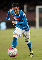 Calcio, Serie A: Napoli vs Juventus. Napoli, stadio San Paolo, 26 settembre 2015. <br /> Napoli&rsquo;s Jose' Maria Callejon in action during the Italian Serie A football match between Napoli and Juventus at Naple's San Paolo stadium, 26 September 2015.<br /> UPDATE IMAGES PRESS/Isabella Bonotto<br /> <br /> *** ITALY AND GERMANY OUT ***