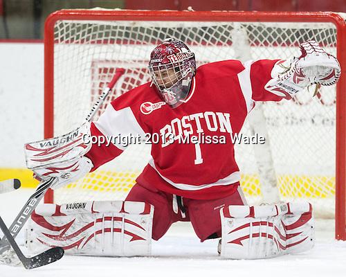 Kerrin Sperry (BU - 1) - The Harvard University Crimson defeated the visiting Boston University Terriers 3-1 on Friday, November 22, 2013, at Bright-Landry Hockey Center in Cambridge, Massachusetts.
