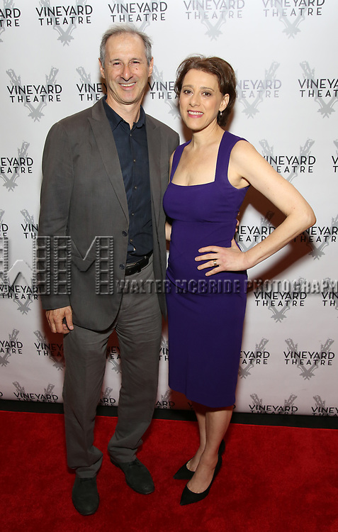 Richard Topol and Judy Kuhn attends the Vineyard Theatre Gala 2018 honoring Michael Mayer at the Edison Ballroom on May 14, 2018 in New York City.