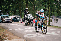 decent TT by Romain Bardet (FRA/AG2R-LaMondiale) gaining him 1 place in the GC (up to 6th)<br /> <br /> Stage 20 (ITT): Saint-Pée-sur-Nivelle >  Espelette (31km)<br /> <br /> 105th Tour de France 2018<br /> ©kramon