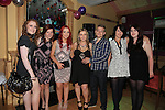 Nicole Bell with friends at her 18th party in the Tatch<br /> Picture:  Fran Caffrey / www.newsfile.ie
