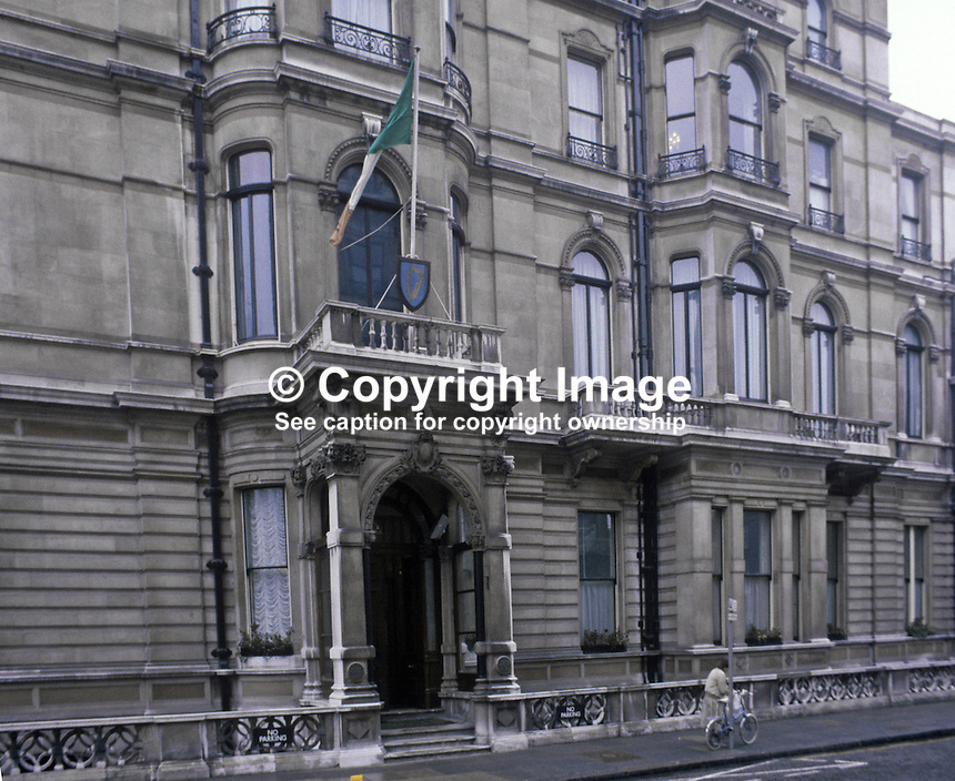 Irish Embassy, London, UK, 19820300017EMB1..Copyright Image from Victor Patterson, 54 Dorchester Park, Belfast, UK, BT9 6RJ..Tel: +44 28 9066 1296.Mob: +44 7802 353836.Voicemail +44 20 8816 7153.Skype: victorpattersonbelfast.Email: victorpatterson@me.com.Email: victorpatterson@ireland.com (back-up)..IMPORTANT: If you wish to use this image or any other of my images please go to www.victorpatterson.com and click on the Terms & Conditions. Then contact me by email or phone with the reference number(s) of the image(s) concerned.