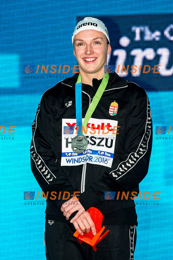 HOSSZU Katinka HUN Silver Medal<br /> Women's Freestyle 200m<br /> 13th Fina World Swimming Championships 25m <br /> Windsor  Dec. 6th, 2016 - Day01 Finals<br /> WFCU Centre - Windsor Ontario Canada CAN <br /> 20161206 WFCU Centre - Windsor Ontario Canada CAN <br /> Photo &copy; Giorgio Scala/Deepbluemedia/Insidefoto