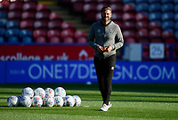 Lincoln City's assistant manager Nicky Cowley during the pre-match warm-up<br /> <br /> Photographer Andrew Vaughan/CameraSport<br /> <br /> The Carabao Cup First Round - Huddersfield Town v Lincoln City - Tuesday 13th August 2019 - John Smith's Stadium - Huddersfield<br />  <br /> World Copyright © 2019 CameraSport. All rights reserved. 43 Linden Ave. Countesthorpe. Leicester. England. LE8 5PG - Tel: +44 (0) 116 277 4147 - admin@camerasport.com - www.camerasport.com