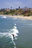Surfer, San Clemente Pier, Orange County, California, USA