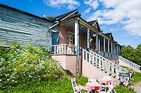 Finland, Helsinki. Old villa on Suomenlinna.