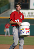 August 21, 2003:  Ryan Madson of the Scranton Wilkes Barre Red Barons during a game at Frontier Field in Rochester, New York.  Photo by:  Mike Janes/Four Seam Images