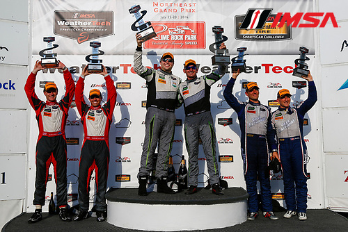 22-23 July, 2016, Lakeville, Connecticut USA<br /> IMSA WeatherTech Sportscar Championship GTD Podium<br /> &copy;2016, Jake Galstad<br /> LAT Photo USA
