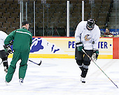 Cary Eades (North Dakota Associate Head Coach), Joe Finley (North Dakota 2) - The 2008 Frozen Four participants practiced on Wednesday, April 9, 2008, at the Pepsi Center in Denver, Colorado.