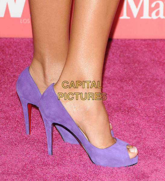 DANIA RAMIREZ .at The Women in Film 2009 Crystal .and Lucy Awards held at The Hyatt Regency Century Plaza in Century City, California, USA, June 12th 2009                                                                     .detail purple suede open peep toe shoes heels Christian Louboutin .CAP/DVS.©Debbie VanStory/RockinExposures/Capital Pictures