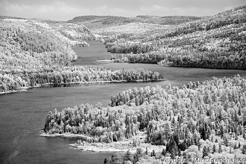 View from 'Le Passage' Lookout.<br />La Mauricie National Park<br />Quebec<br />Canada