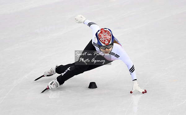 Minjeong Choi (KOR). Short track. Gangneung ice arena. Pyeongchang2018 winter Olympics. Gangneung. Republic of Korea. 10/02/2018. ~ MANDATORY CREDIT Garry Bowden/SIPPA - NO UNAUTHORISED USE - +44 7837 394578
